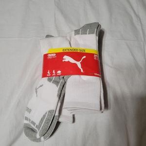 Puma White Men's Sport Lifestyle Crew Sock